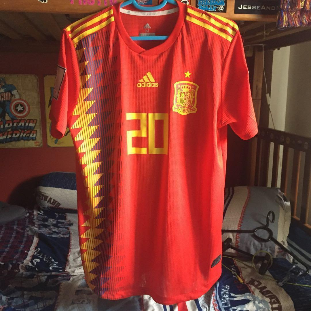 competitive price 9dd8b f3429 Spain 2018 WC Jersey, Sports, Sports Apparel on Carousell