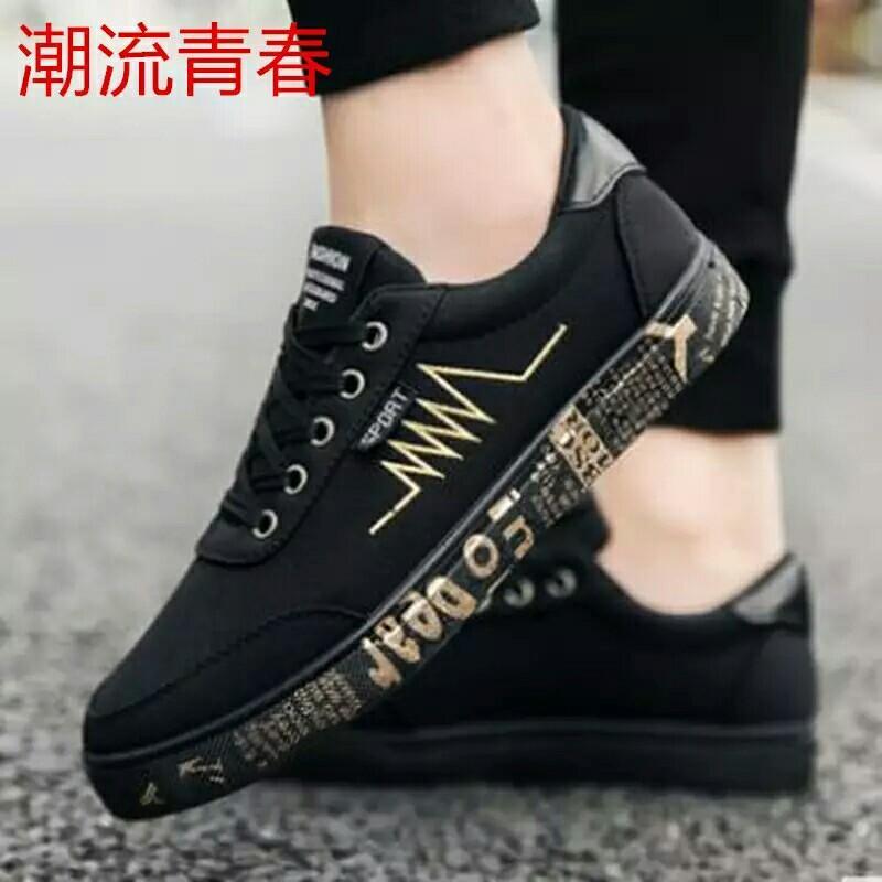 e04bc4d38ff Spring Summer Canvas Shoes Men Sneakers Low top Black Shoes Men's ...