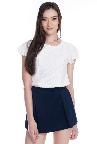 TCL Dawn Pleated Skorts in Navy