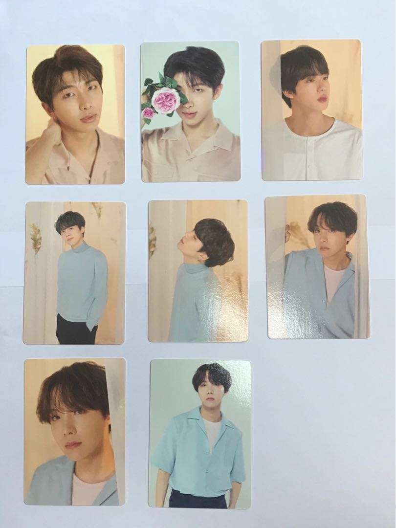 bts love yourself concert photocards