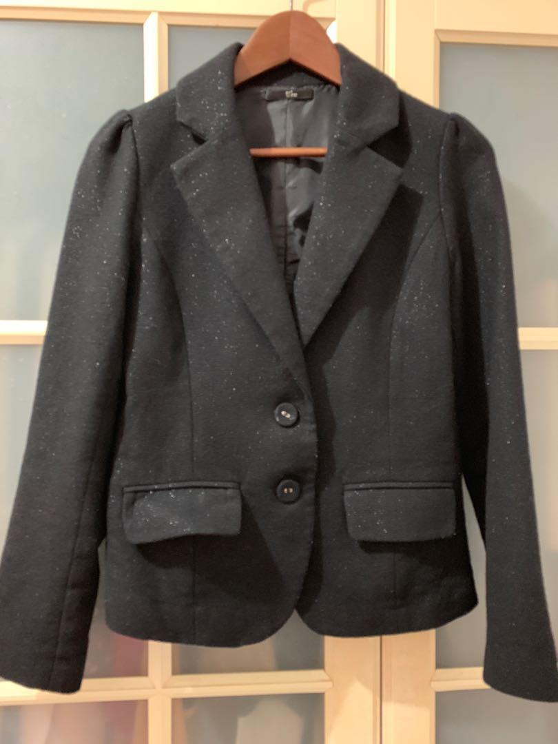 U're百貨專櫃品牌黑色西裝外套M號
