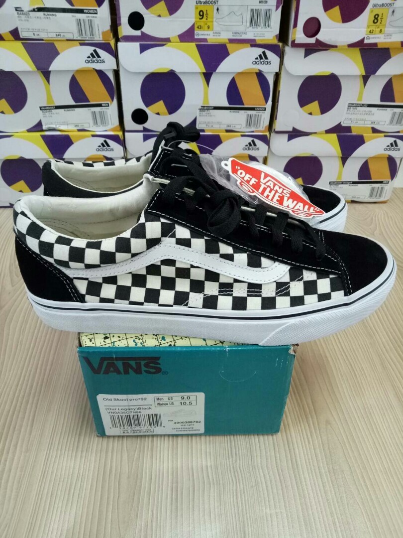 lowest price great deals authentic quality Vans Old Skool Pro 92 CheckerBoard Black White
