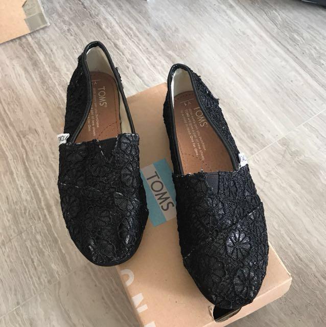Very New Toms Shoes Girls Crochet Glitter Babies Kids Girls