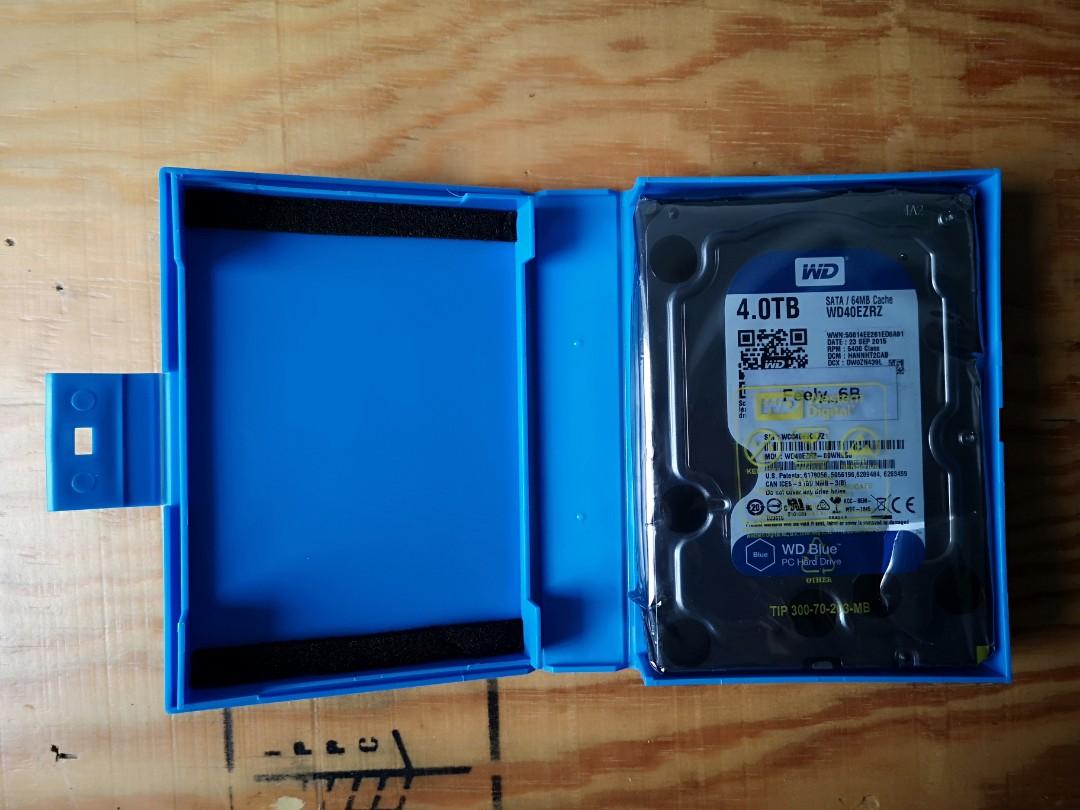 WD Blue 4TB Harddrive, Electronics, Computer Parts