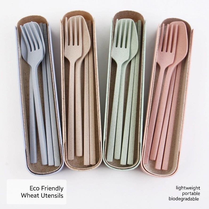 INSTOCK Wheat Utensils Travel Set, Home Appliances