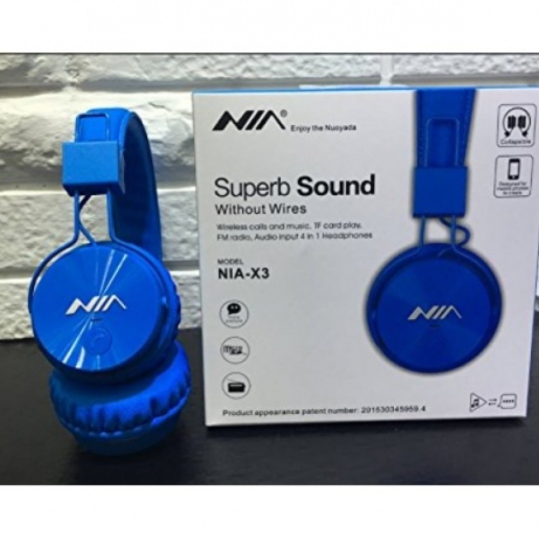b3ddd3365b3 Wireless Wired Superbass Wireless NIA X3 Headphones Multi Function ...