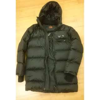 Y-3 黑色羽絨運動大衣
