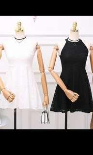 🚚 White lace halter neck dress *Ready stock*