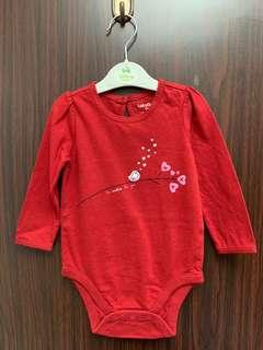 全新紅色baby gap 棉質包pat 長袖夾衣(6-12m) 送平郵