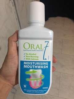 Oral 7 moisturizer mouthwash