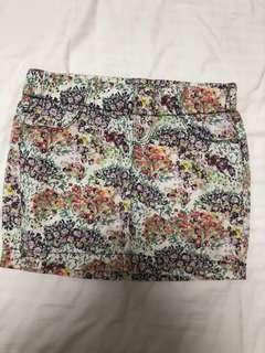 Zara floral miniskirt