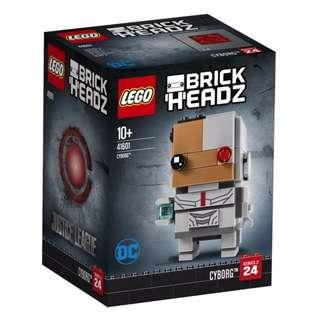 Leeogel Lego 41601 Brickheadz Brick Headz DC Justice League Super Heroes Cyborg - New In Sealed Box