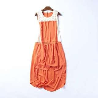 Dressin orange Size M 99%new