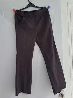 Celana panjang bahan kerja halus polyester CHATELAINE premium branded warna gelap jeans darl ungu purple
