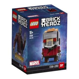 Leeogel Lego 41606 Brickheadz Brick Headz Marvel Guardians Of The Galaxy Super Heroes Star Lord - New In Sealed Box