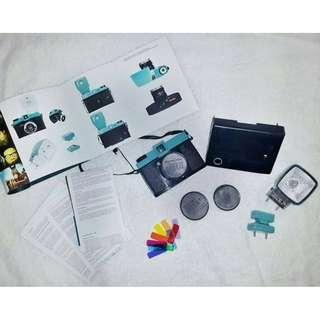DIANA F+ with FLASH and INSTANT BACK for polaroid photography
