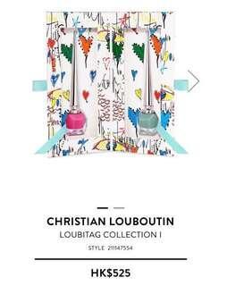 Christian Louboutin Loubitag Collection I 指甲油套裝 Pluminette and Batignolles 6ml x 2 粉紅 & 藍綠 set