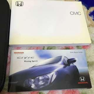 Honda Civic FD Guide and Manual Book