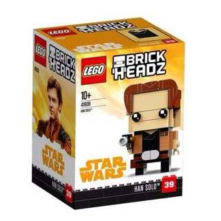 Leeogel Lego 41608 Brickheadz Brick Headz Star Wars Han Solo - New In Sealed Box