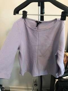 H&M Lavender Blouse/Sweater size S