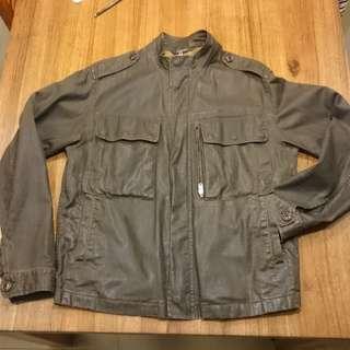 🚚 DKNY 類油布黑色夾克