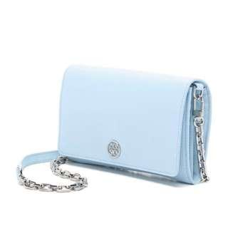 Tory Burch Chain Bag woc crossbody baby blue