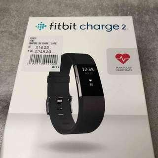 Fitbit Charge 2 Black Large (Watch + Heart Rate + Fitness Wristband)