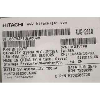 Hitachi Sata 250GB 7.2K RPM