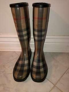 Authentic Used Burberry Rainboots