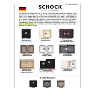 Made in Germany SCHOCK granite sink  Authentic GERMANy Granite Kitchen Sink