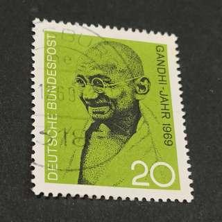 Germany 1968. The 100th Anniversary of the Birth of Mahatma Gandhi complete set of 1 stamp