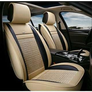 Pvc leather full set car seat cover. Free postage.