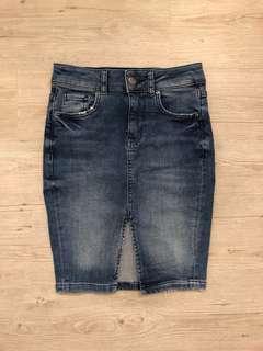 H&M denim bodycon skirt