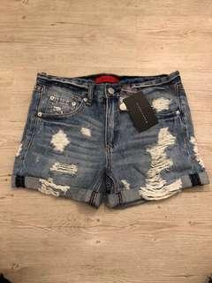 Signature 8 distressed jean shorts - size small