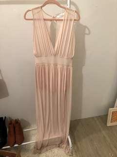 Mesh maxi dress - size small