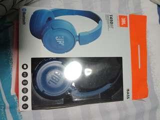 JBL T450BT headphones blue