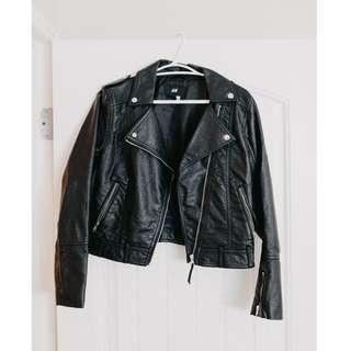 H&M Faux Leather Jacket - size 6