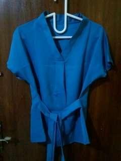 💜 Blouse Kimono Tosca Biru