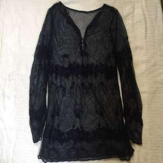 Zara mesh top (cover up)