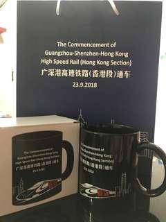 廣深港高鐵香港段首日通車紀念杯 High Speed Rail