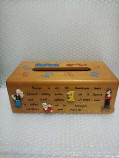 大力水手 紙巾木盒