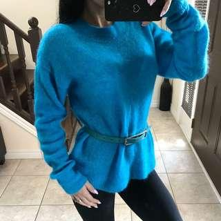 Mohair & wool sweater size XS / S / M