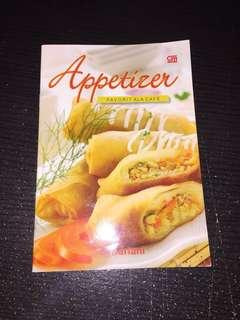 "Buku Resep ""Appetizer fav ala Cafe"""