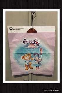 🚚 🌵香港迪士尼 正版✨達菲塑膠 提袋‼️1個