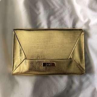 Pari Gold Metallic Clutch