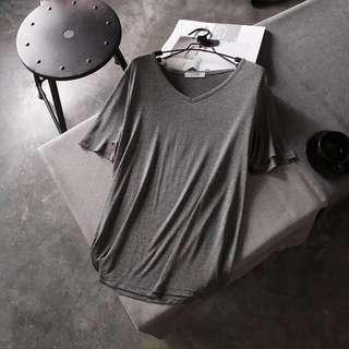 Grey T-shirt size M modal fiber