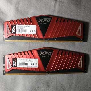 威剛DDR4-3000 XPG Z1 16G超頻記憶體RAM(美光金士頓芝奇26662933320036003466)