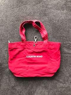 Country Road Large Red Tote Bag