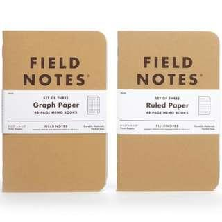 Field Notes Original Kraft (Pack of 3 notebooks)
