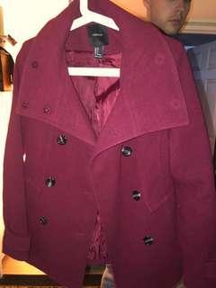 Forever 21 winter coat red